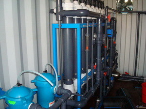 container desalination system